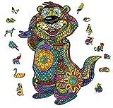 Juego De Rompecabezas, Rompecabezas En Forma De Animal 3D, Rompecabezas Únicos Puzzles De Rompecabezas De Juguete Discomensión De Madera Puzzles Educativos Juego Familiar Para Niños Y Adultos,B,S