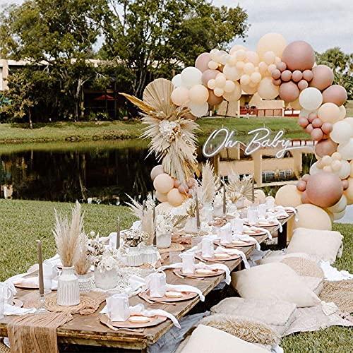 Kubert 116 unidades de globos de melocotón crema guirnalda kit decoración de boda cromo oro rosa blanco globo arco fiesta cumpleaños baby shower decoración