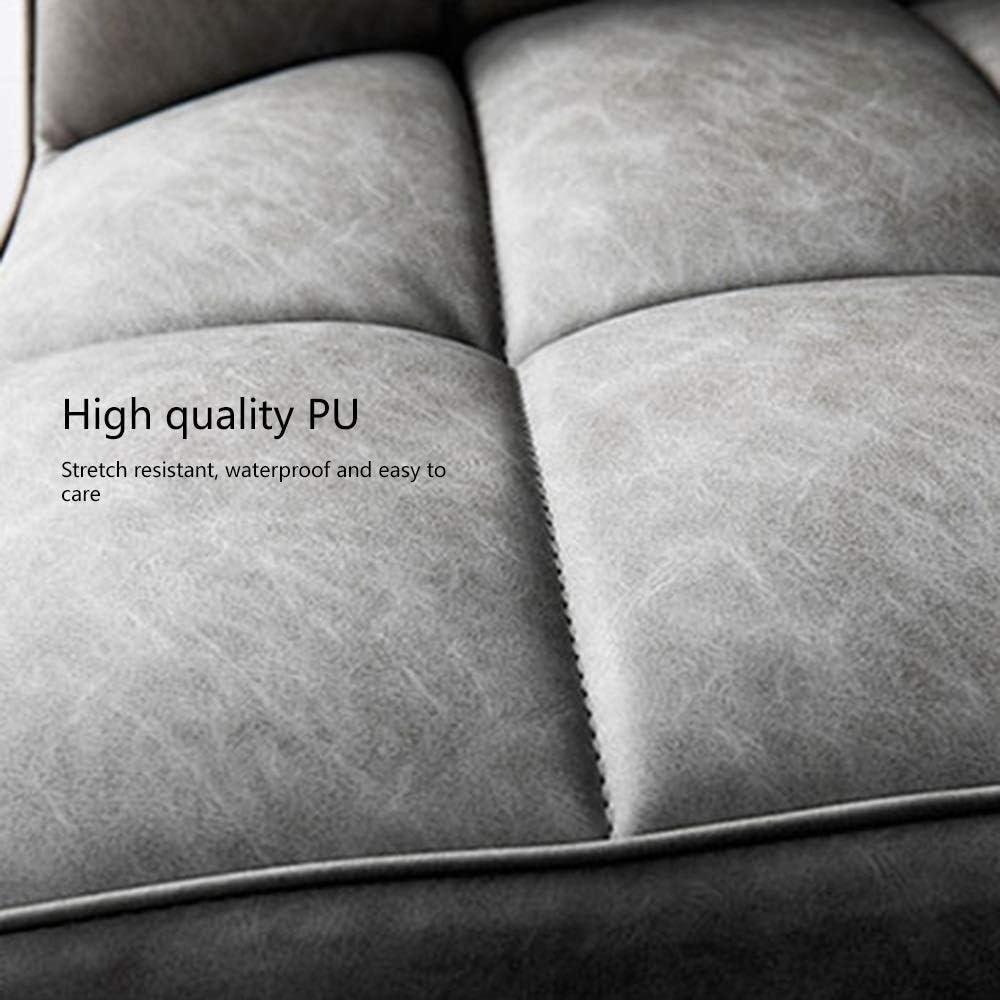 Bseack Ergonomique à Haut Dossier Manger Chaise en Cuir PU Tissu Salon Moderne Chaise métal Leg Lumière Hôtel de Chaise Restaurant Hôtel (Color : Creamy-White) Creamy-white
