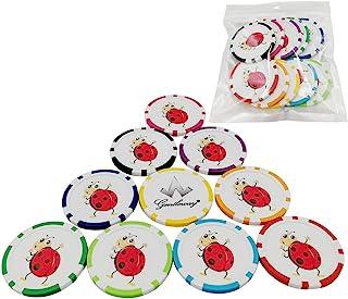 Fansport - Marcadores de pelotas de golf (10 unidades), varios colores