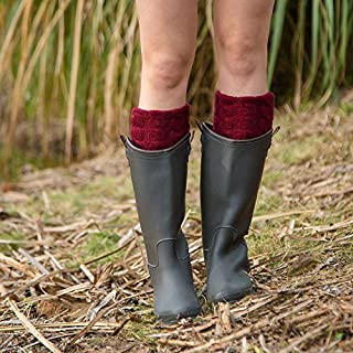 b2a6af18 XIAOL Home Pata de Lana con Patas de Paso para el pie, Botas de Lluvia,  Zapatos para Agua, Forro, Punto, Calcetines de Navidad, Boca, 8 Palabras,  ...