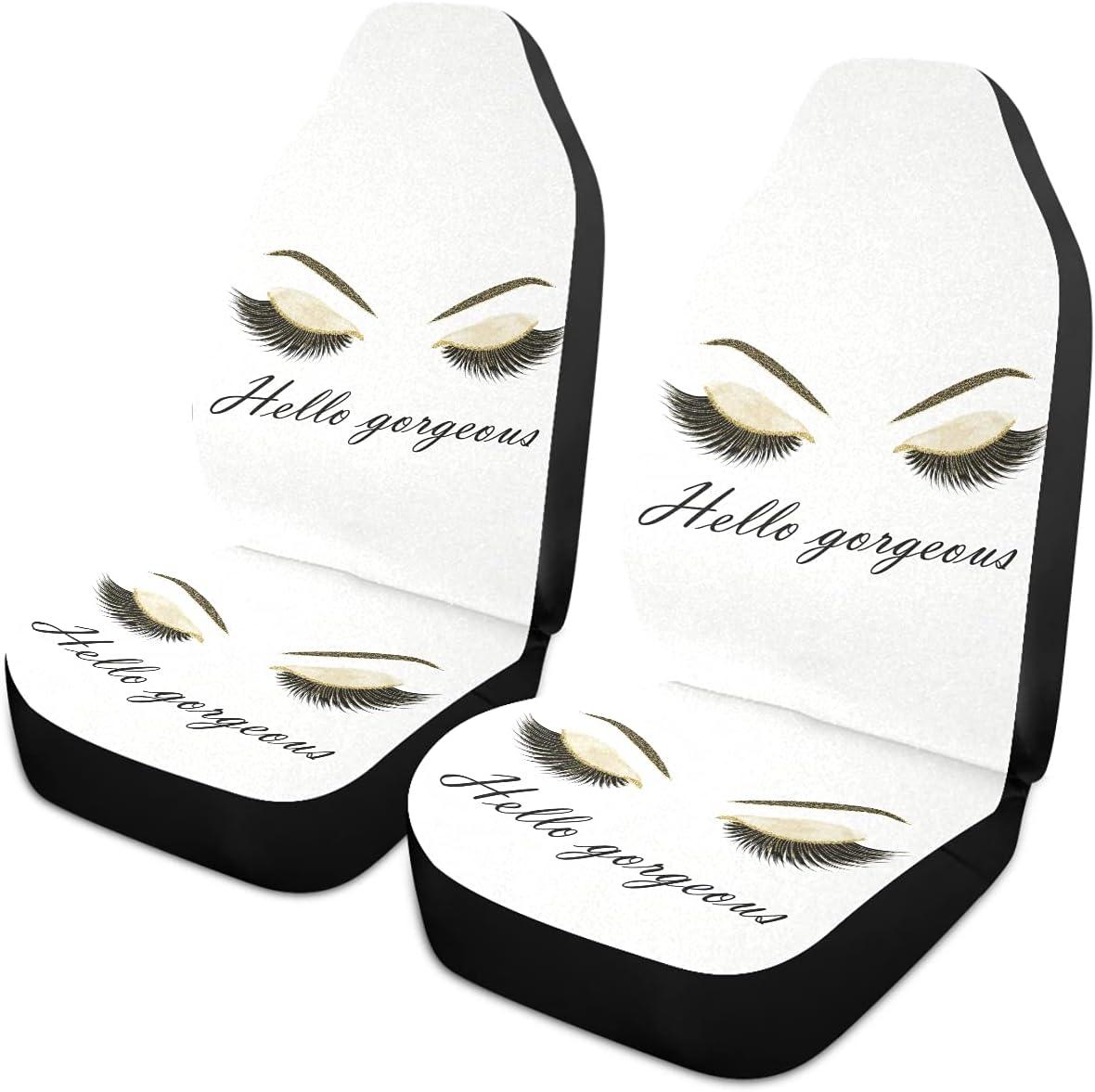 Oarencol Women Eyes Hello Gorgeous Seat Selling rankings Ranking TOP4 Covers Golde Car Eyelash