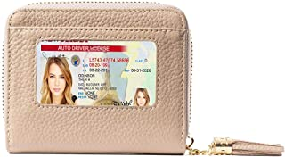 RFID Wallet for Women, Ultra Slim Ladies Genuine Leather Bifold with Anti-Theft Travel Protection