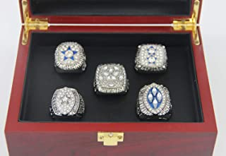 XiaKoMan Dallas 5 time Cowboys Superbowl Rings Set with Box Gifts for Men Women Boys Kids Youth Championship Ring Stuff