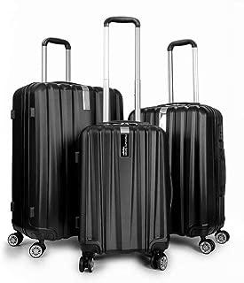 Platinum Voyager Series - 3 Piece Hardside Spinner Luggage Set (Black)(20