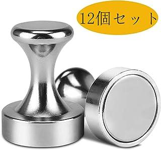 マグネットピン マグネット フック 12個 ネオジム磁石 強力 磁石押しピン 傘立て マグネット 冷蔵庫/キッチン/壁掛け/ホワイトボード/学校用品/事務所に最適 直径12 * 16mm