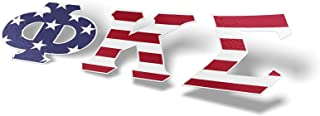 Phi Kappa Sigma Fraternity USA Letter Sticker Decal Greek 2 Inches Tall for Window Laptop Computer Car PKS