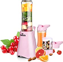 KATTICH All in One Nutri Blender 400 Watt with 3 Jars for shakes, smoothies, grinding & juices (Pink)