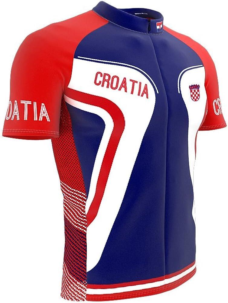 Over item handling ☆ ScudoPro Croatia Full Zipper NEW Bike Sleeve Cycling fo Short Jersey