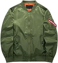 Hzcx Fashion Men's Zipper Up Casual Light Weight Flight Bomber Jackets