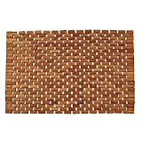"Teak Bath Floor Shower Mat - Solid OR Foldable - Indoor/Outdoor Anti-Slip - Hand Made Eco Friendly Premium Teak Wood - Luxury Shower Spa Mat by Maxtir (Natural Teak Foldable Mat, 27.5"" x 20"" x 0.25"")"