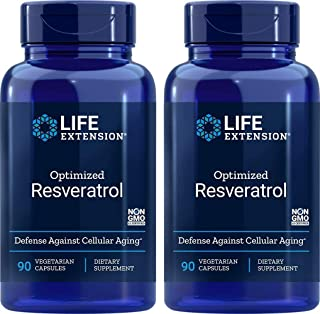Life Extension Optimized Resveratrol, 90 Caps (Pack of 2)