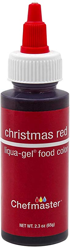 Chefmaster By US Cake Supply 2 3 Ounce Liqua Gel Cake Food Coloring Christmas Red