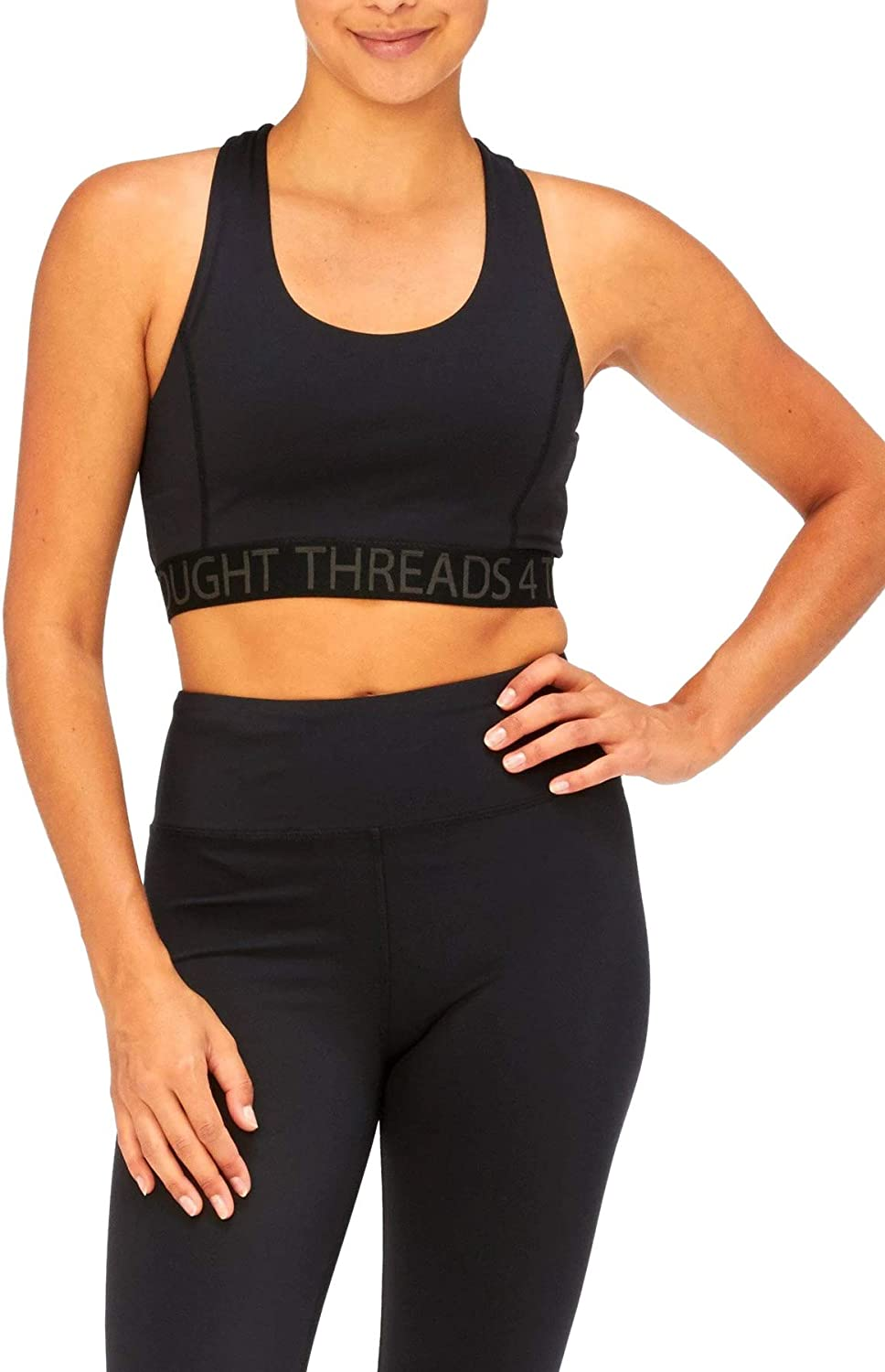 Threads 4 Thought デポー 即納送料無料 Womens Bra Sports Wrap Tranquil