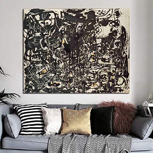 KWzEQ Pintor Abstracto Pared Arte Lienzo Pintura Cartel para Sala de Estar decoración para el hogar Arte Papel Pintado,Pintura sin Marco,60x75cm