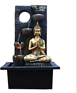 Love lamp Desktop Lucky Buddha Statue Water Fountain Indoor Humidifier Southeast Asia Home Statue Office Waterscape Decorations (Color : A)
