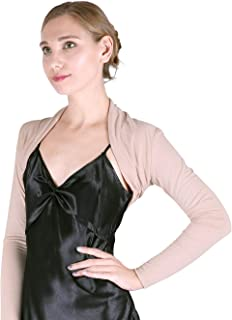 HDE Open Front Shrugs for Women Long Sleeve Bolero Cropped Cardigan Sweater S-4X
