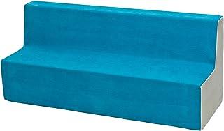 Velinda Canapé, Sofa, lit, Meubles Chambre d'enfant, Jeu Confort Repos (Couleur: Bleu-Beige)