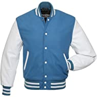 Stewart & Strauss Varsity Letterman Jacket (48 Team Colors) Wool & Real Leather Sleeves - XXS to 6XL