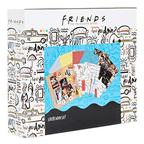 Friends Album de Manualidades, Kit de Scrapbooking Materiales con Pegatinas, Bolígrafos Gel, Sellos de Madera, Botes de Purpurina, Juego de Manualidades Para Niños y Adultos