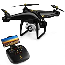 JJRC GPS Drone RC FPV Drones with HD Camera for Adults Beginners 980ft Long Control Distances H68G Auto Return Home,Follow Me, Altitude Hold, 2 Batteries Long time Flying - Black