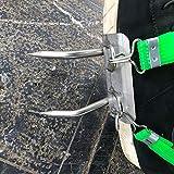 juman634 2PCS Herramienta de Escalada de árboles Fácil de Usar Picos de Escalada de Poste para la observación de Caza Recolección de Fruta Zapatos de árbol de Escalada de Acero Inoxidable