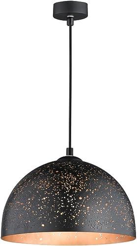 Honsel 65210 Lampe Suspendue, Métal, E27, 40 W, Noir Or, 30 x 30 x 140 cm