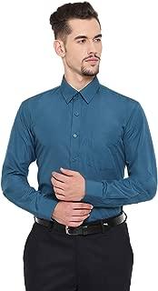 English Navy Men's Slim Fit Formal Shirt