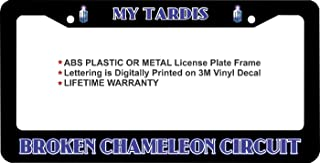 First Rober Dr. Who My Tardis Broken Chameleon Circuit Aluminum Alloy Black License Plate Frame Metal 12