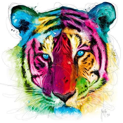 International Graphics Fertigbild - MURCIANO, Patrice - ''Tiger Pop'' - 30 x 30 cm - Direktdruck auf Acryl