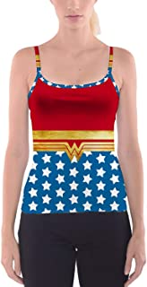 Rainbow Rules Wonder Woman Super Hero Inspired Camisole Spaghetti Strap Tank Top