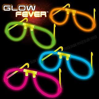 Glow Sticks Bulk 50ct Glow Eyeglasses, Glow in The Dark Rave Party Glasses Birthday Wedding Favors Glow Party Supplies Christmas Halloween Decor