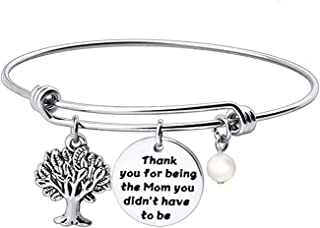 Stepmom Bracelet Thank You for Being The Mom You Didn't Have to Be Gift for Stepmom Adoptive Mom