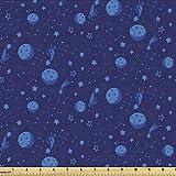 Lunarable Sternbild Stoff von The Yard, Einfarbige Monde,