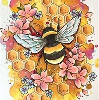 Excefore 5D Diamond Painting Kits for Adults, Kids. Room Decoration, Home, Office, Gift for Her Him Bee Licking On Honey 1...