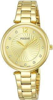 PULSAR Women Analogue Quartz Watch with Metal Strap PH8494X1