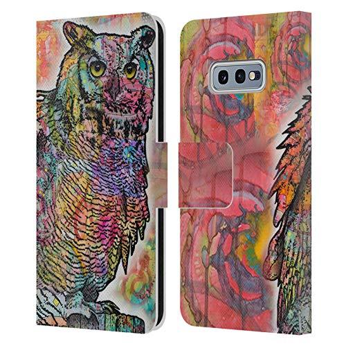 Head Case Designs Oficial Dean Russo Perca de búho Vida Silvestre 2 Carcasa de Cuero Tipo Libro Compatible con Samsung Galaxy S10e