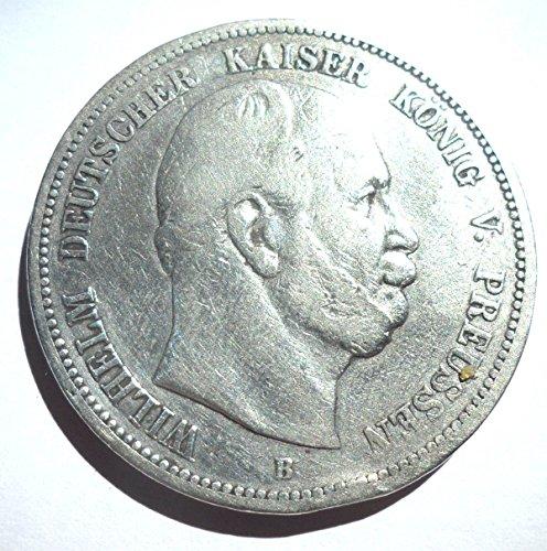 orig. Silbermünze 5 Mark 1876 B Preußen Wilhelm I - Jäger Nr. 97 - Münze Deutsches Reich / Kaiserreich