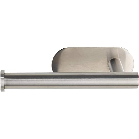WENKO Dérouleur de papier hygiénique Turbo-Loc Orea Mat, fixation sans perçage de trous, porte-rouleaux de papier pour le rangement à portée de main du papier hygiénique, 16 x 4,5 x 7 cm