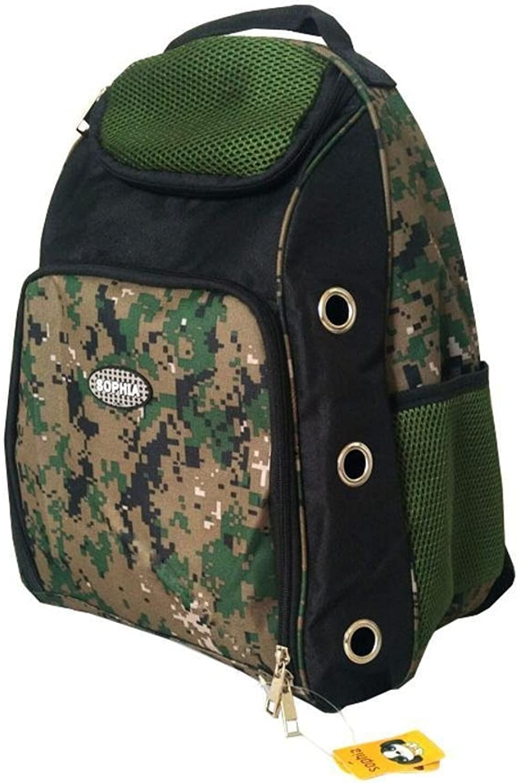 Kaxima Pet Carrier Backpack Oxford Cloth Chest Double shoulder portable dog bag cat cage, 30  20  45cm