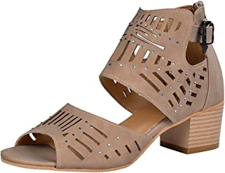 Women Open Toe High Heel Shoes, Ladies Solid Fashion Buckle Casual Shoes Sandals