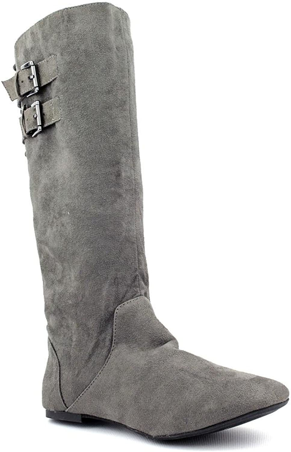 Material Girl Women's Bonita Knee-high Boots in Grey Size 6.5