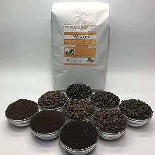 5 Pounds – South American – Peruvian – Roasted To Order Arabica Coffee – Order Today/We Roast Today – Choose Roast Level (Light /Blonde /Medium /Med-Dark /Dark /Italian) (Whole Bean / Ground)