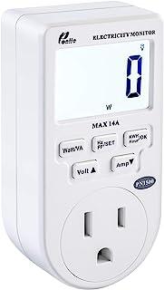 Poniie PN1500 قابل حمل میکرو برق قابل حمل مانیتور مصرف برق مصرف برق وات متر ولتاژ آمپ تستر (110 ولت ، 1500 وات)