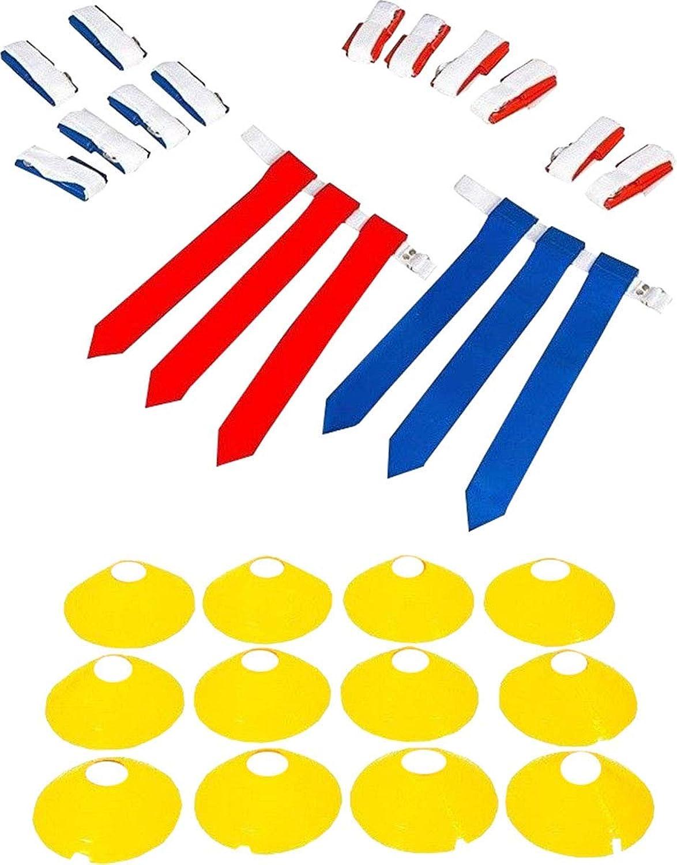 Sportsgearus 14 Player Football Deluxe Set 14 Belt,42 Flag,12 Cone Free Mesh Bag