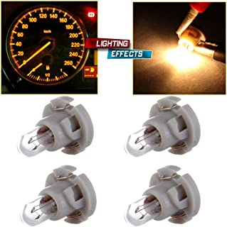 cciyu T4/T4.2 Neo Wedge Halogen A/C Climate Control Bulb Instrumnet Panel Dash Light,4Pack