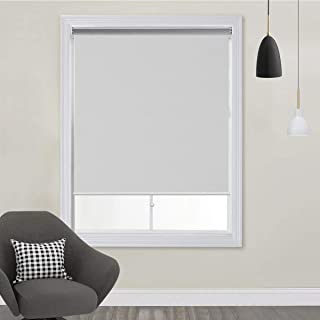 TFSKY Blackout Shades for Bedroom Outdoor Cordless Roller Blinds and Shades for Windows Blackout Window Blinds for Indoor & Outdoor Use, UV Protection with Spring System White, 27x72