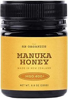SB Organics Manuka Honey MGO 400+ - 8.8 oz Jar of Raw Unfiltered Authentic Premium New Zealand Manuka Honey