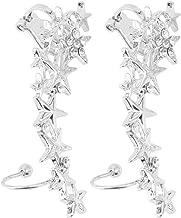 1 Pair Fashion Star Ear Bone Clip On Ear Cuff Earrings No Pierce Pierce Promotion Wedding Accessories(silver)