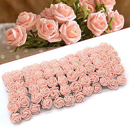 ebuybox® 144er Rosa Pink Schaumrosen Brautstrauss Rosenstrauss Kunstrose Hochzeit Deko